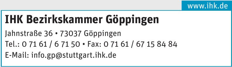 IHK Bezirkskammer Göppingen