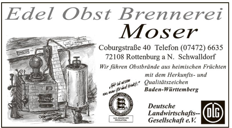 Edel Obst Brennerei Moser