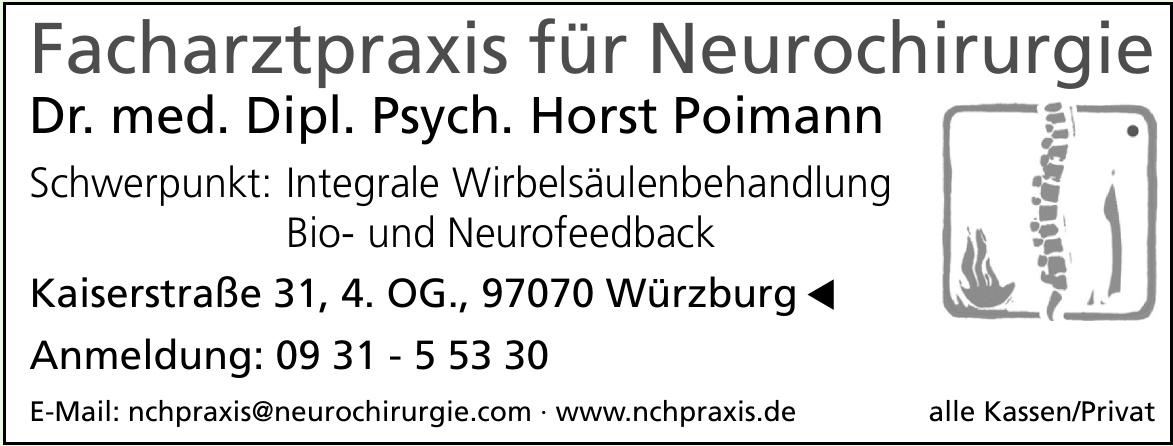 Facharztpraxis für Neurochirurgie Dr. med. Dipl. Psych. Horst Poimann