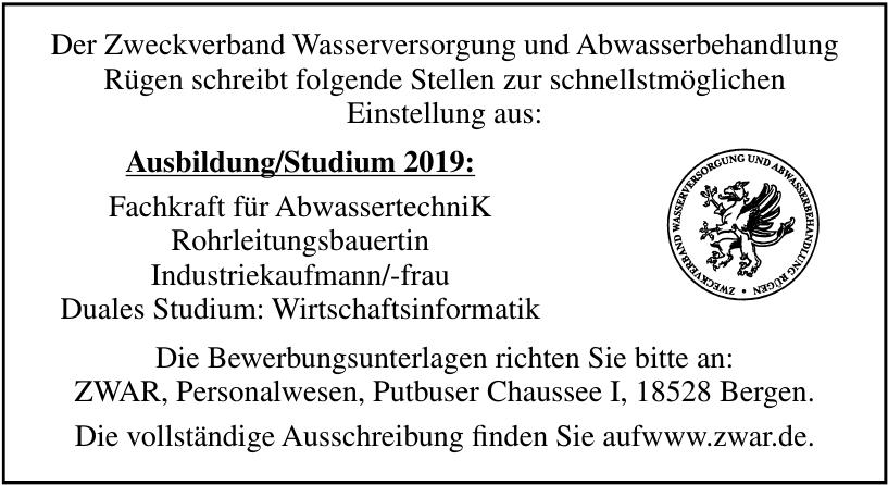 Zweckverband Wasserversorgung und Abwasserbehandlung Rügen