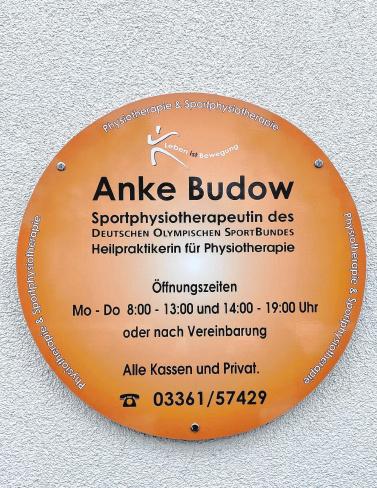 Anke Budow Heilpraktikerin für Physiotherapie