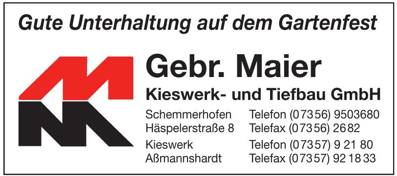 Gebr. Maier Kieswerk- und Tiefbau GmbH