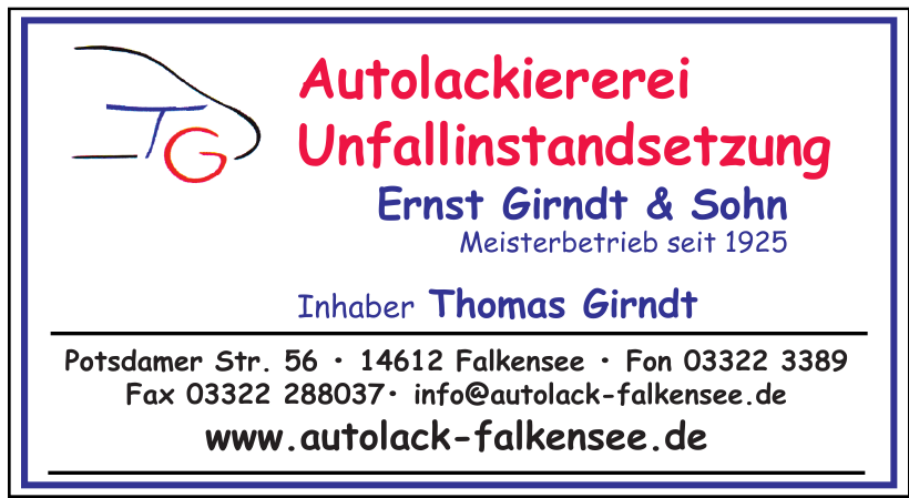 Autolackiererei Unfallinstandsetzung Ernst Girndt & Sohn