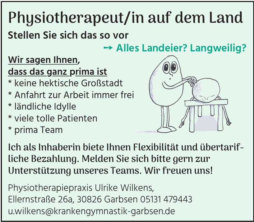 Physiotherapeut/in auf dem Land