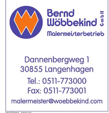 Bernd Wöbbekind GmbH Malermeisterbetrieb