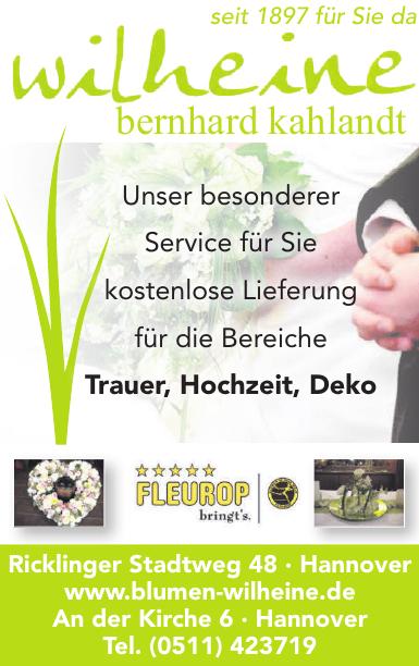 Wilheine Blumenbindekunst Bernhard Kahlandt