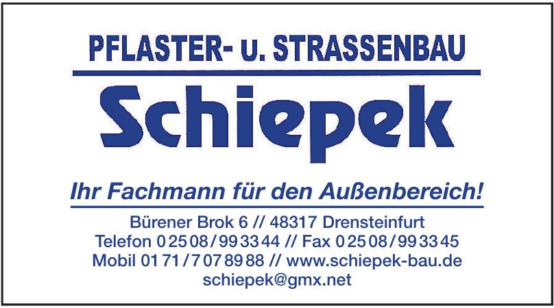 Pflaster- u. Strassenbau Schiepek