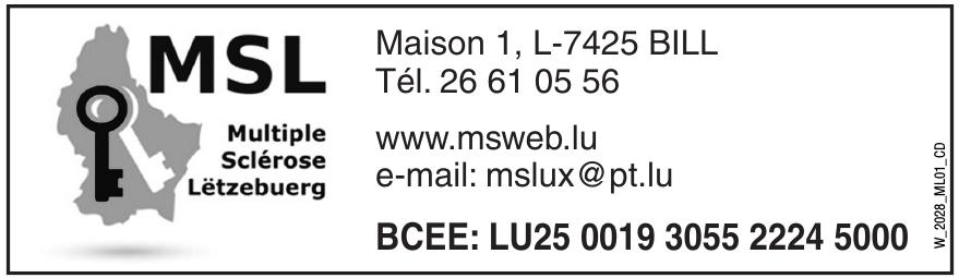 MSL Multipce Sclérose Lëtzebuerg