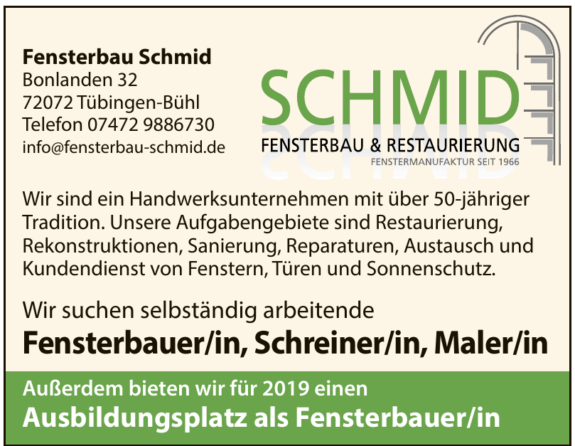 Fensterbau Schmid