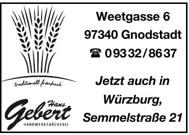 Hans Gebert Handwerskbäckerei