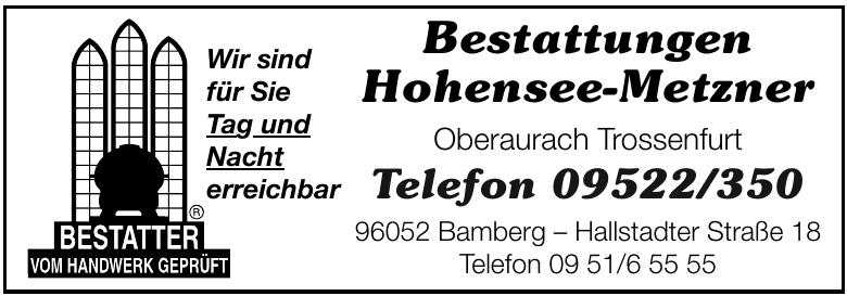 Bestattungen Hohensee-Metzner