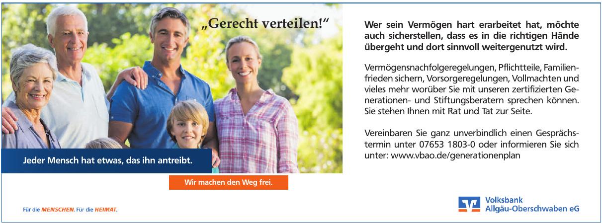 Volksbank Allgäu-Oberschwaben eG