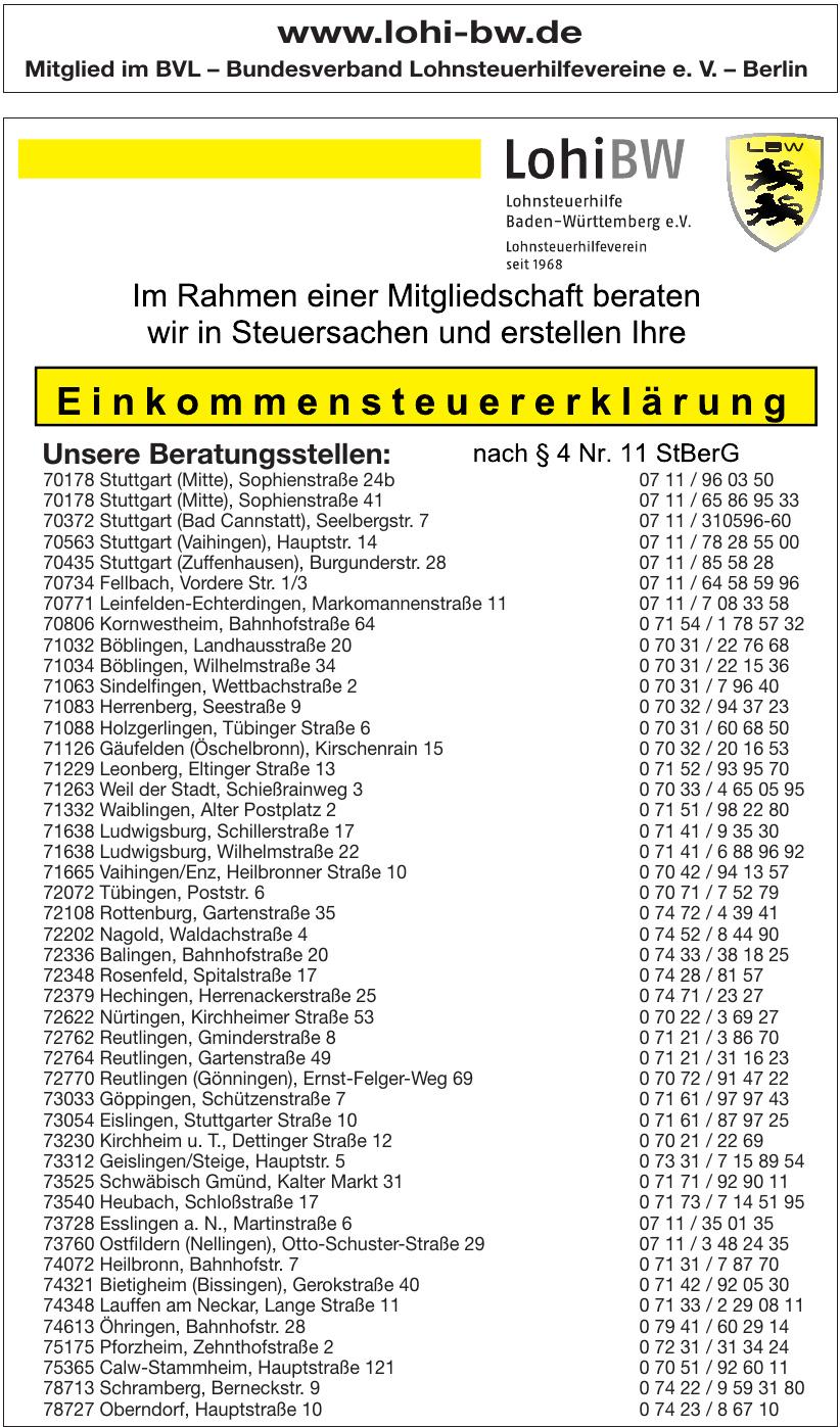 Mitglied im BVL – Bundesverband Lohnsteuerhilfevereine e. V.