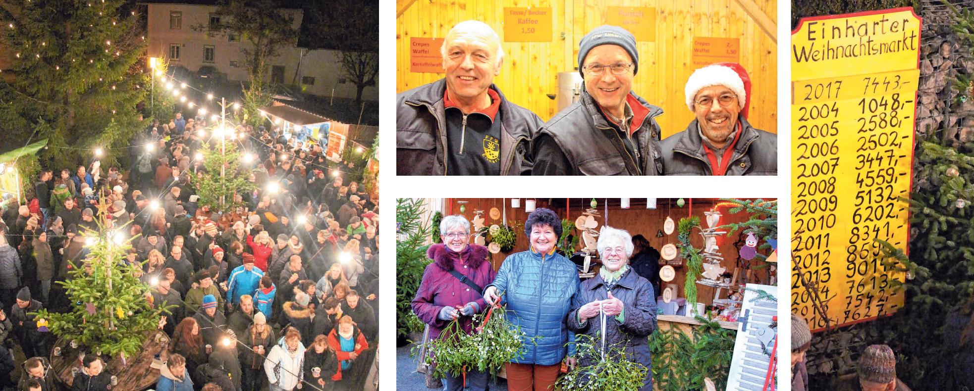 Die Mistelzweige sind beim Einharter Weihnachtsmarkt sehr gefragt und ab 17 Uhr kaum noch zu ergattern. FOTOS (5): NICOLE FRICK