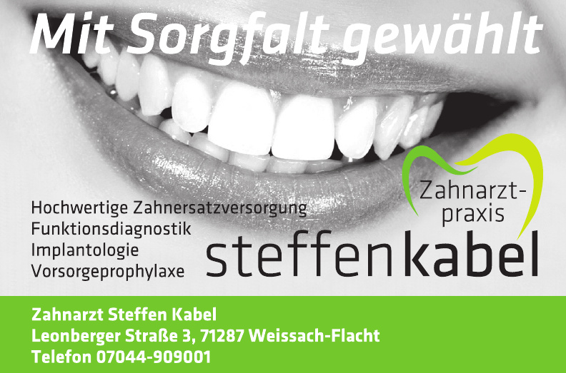 Zahnarzt Steffen Kabel