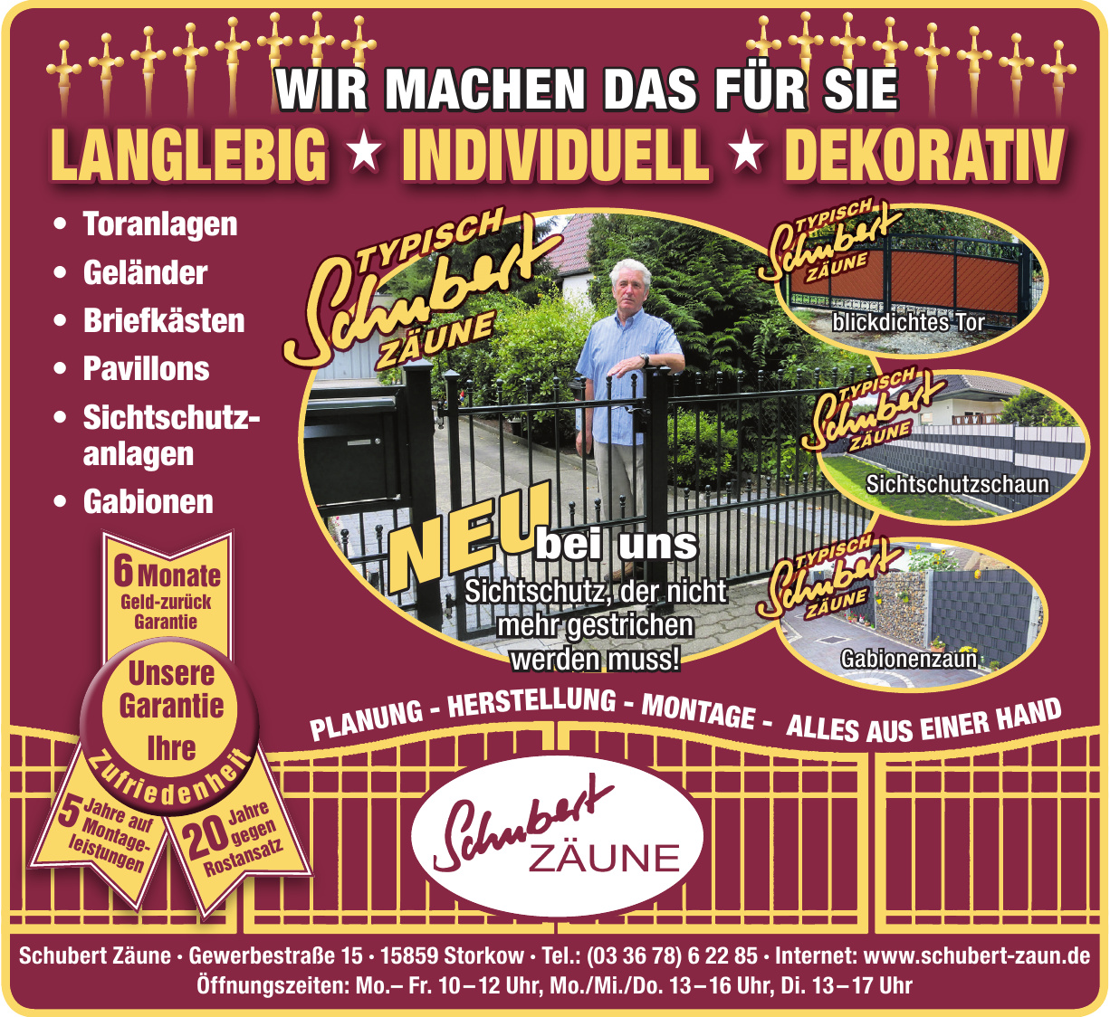 Schubert Zäune