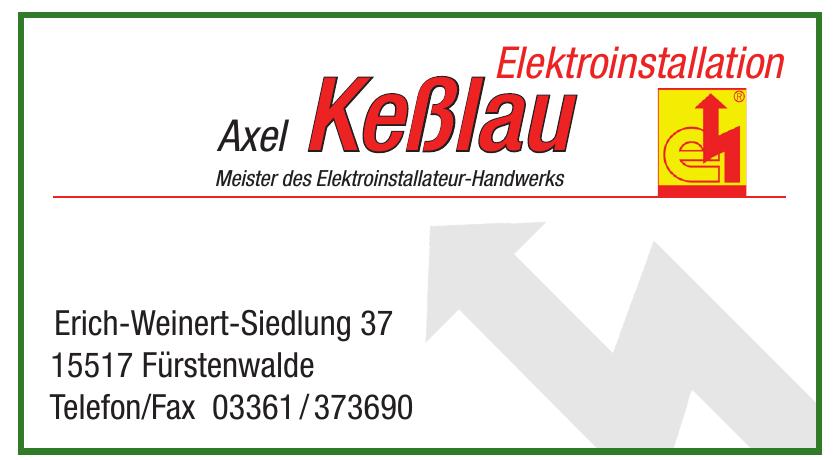 Elektroinstallation Axel Keßlau