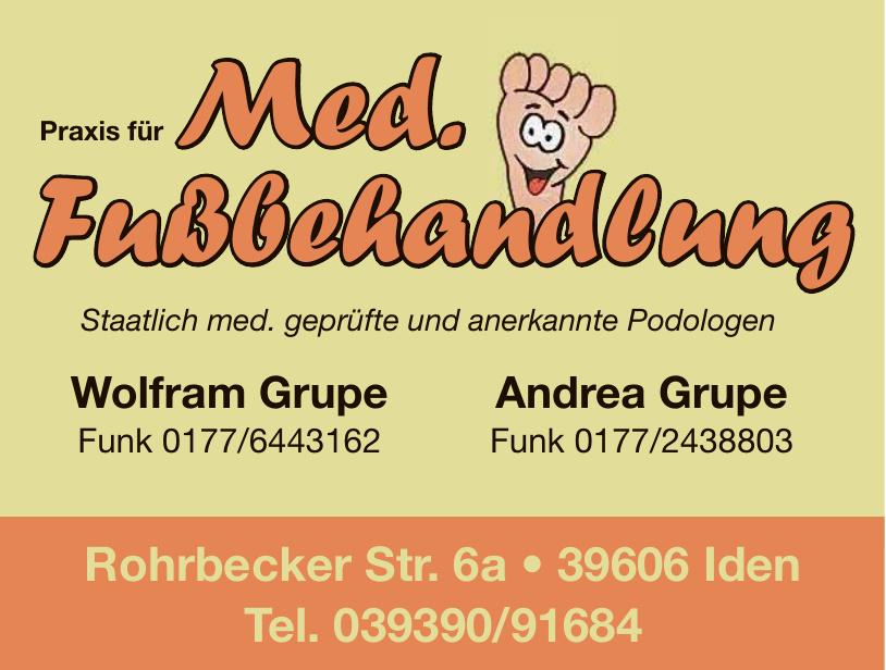 Praxis für med. Fußbehandlung - Wolfram Grupe