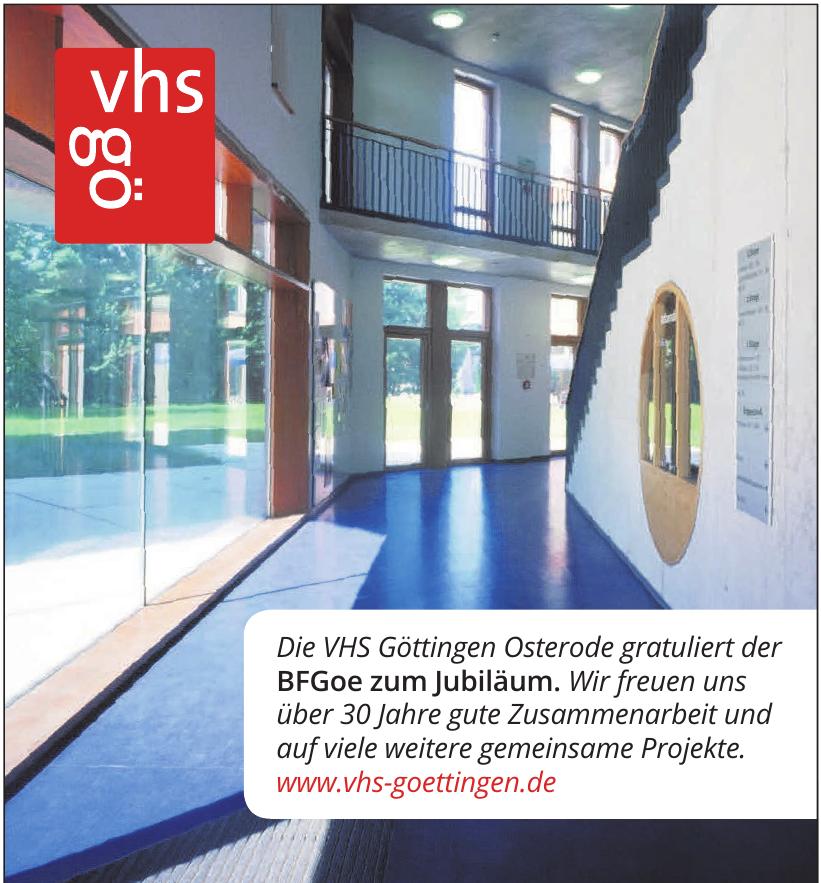 vhs gö VHS Göttingen Oster