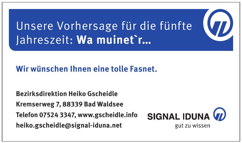 Signal Iduna - Bezirksdirektion Heiko Gscheidle