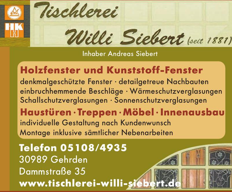 Tischlerei Willi Siebert