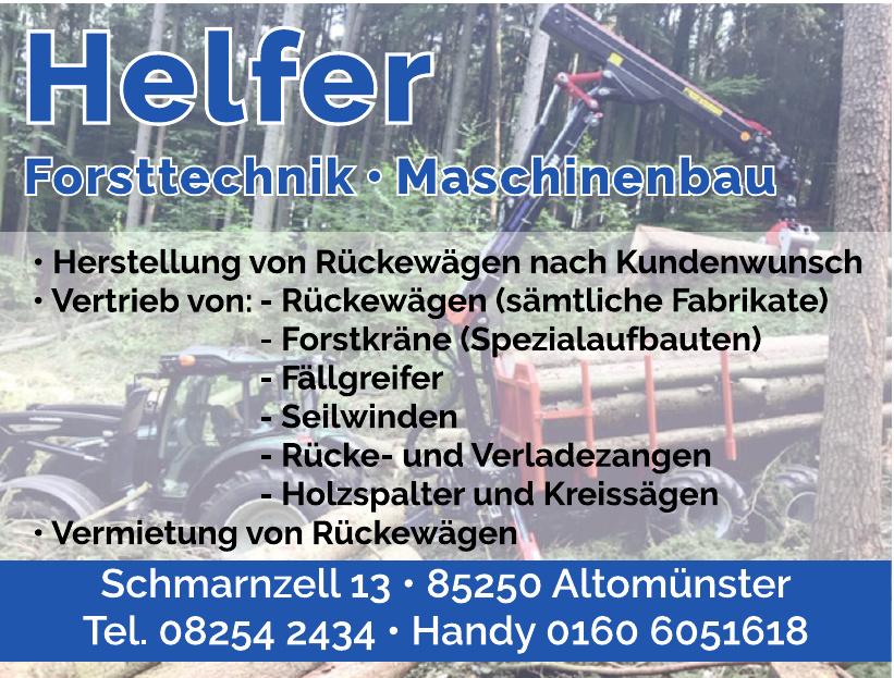 Helfer Forsttechnik, Maschinenbau