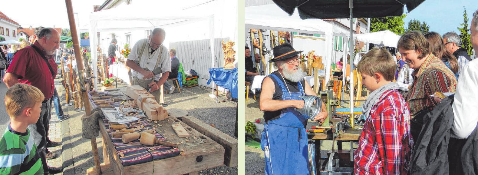 Beim Handwerkermarkt kann sich der Besucher informieren, über die Schulter schauen, aber auch einkaufen. FOTOS: PRIVAT