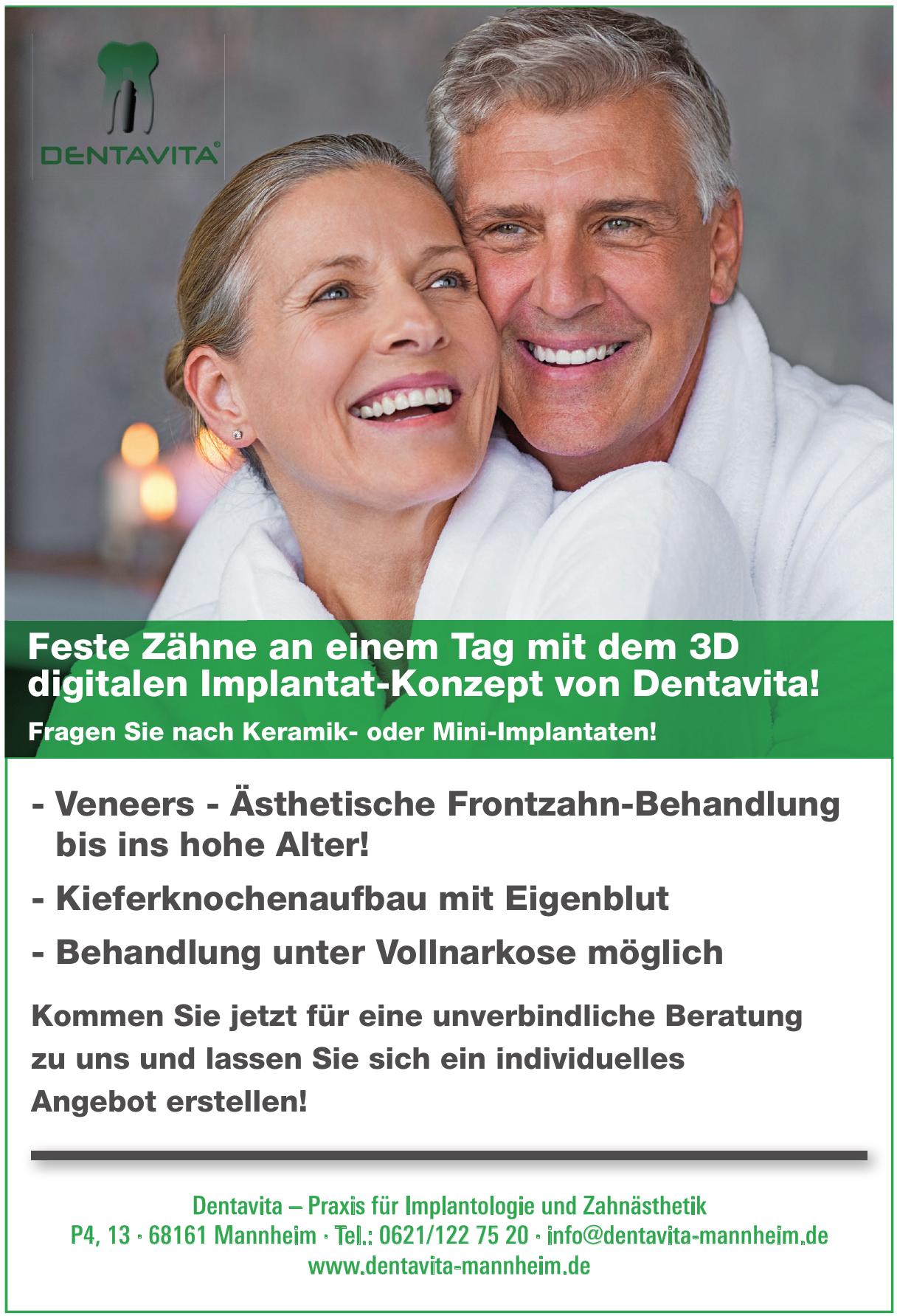 Dentavita – Praxis für Implantologie und Zahnästhetik