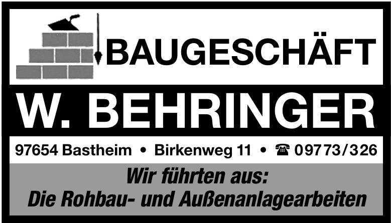 Baugeschäft W. Behringer