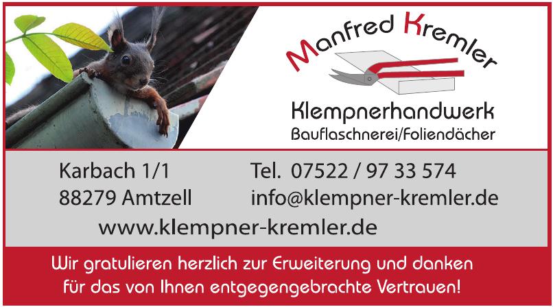 Manfred Kremler Klempnerhandwerk