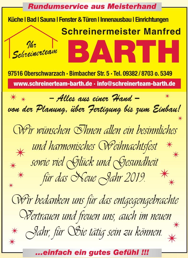 Schreinermeister Manfred Barth