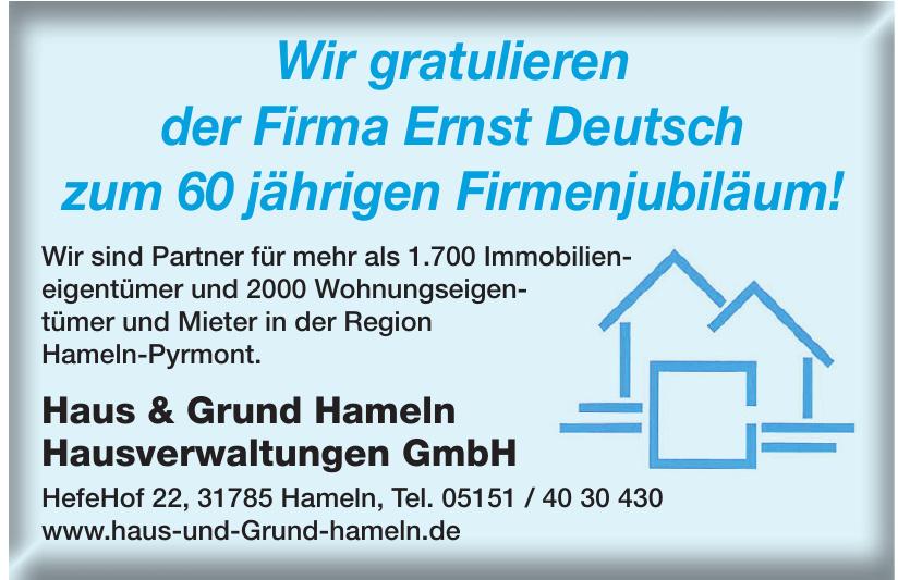Haus & Grund Hameln Hausverwaltungen GmbH