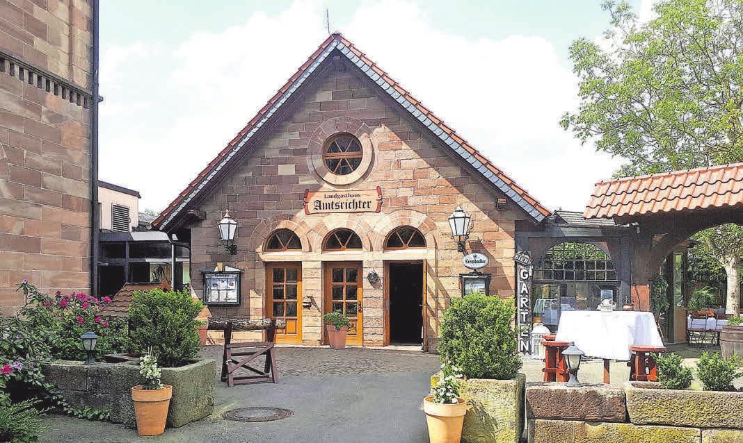 Das Landgasthaus Amtsrichter: Seit einem Vierteljahrhundert wird das Gebäude gastronomisch genutzt. FOTOS: R