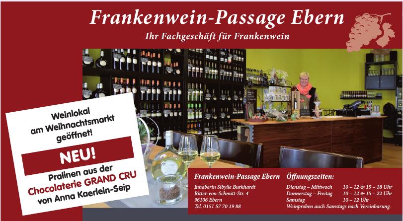 Frankenwein-Passage Ebern