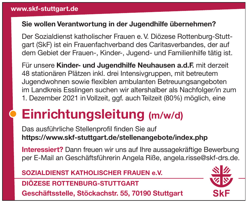 Sozialdienst Katholischer Frauen e.V. - Diözese Rottenburg-Stuttgart