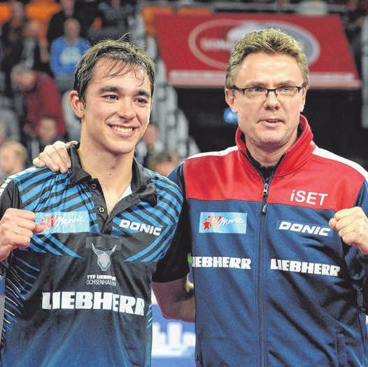Hugo Calderano und Dmtrij Mazunov       FOTO: ROSCHER