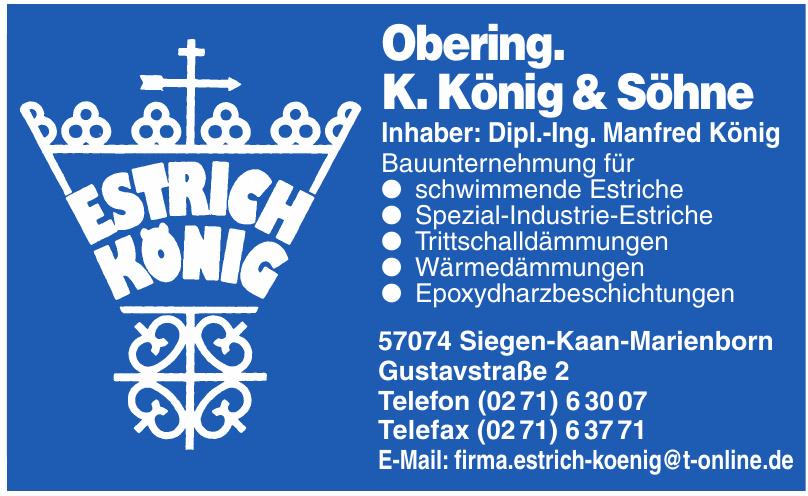 Obering. K. König & Söhne