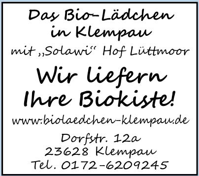 Das Bio-Lädchen in Klempau