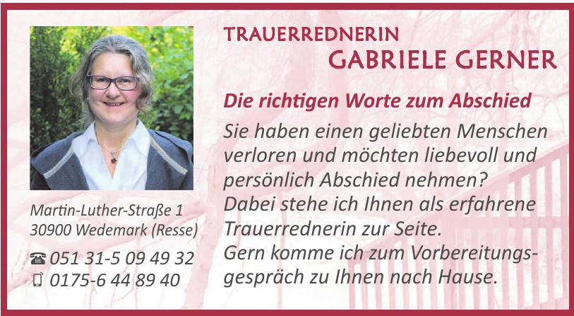 Trauerrednerin Gabriele Gerner