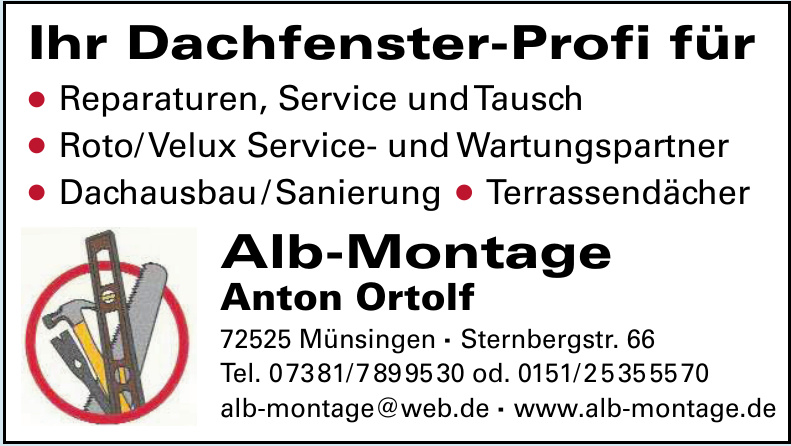 Alb-Montage