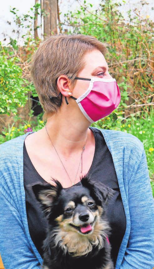 Eine speziell in die Maske eingearbeitete Nasenfalte schafft genügend Raum zum Atmen.