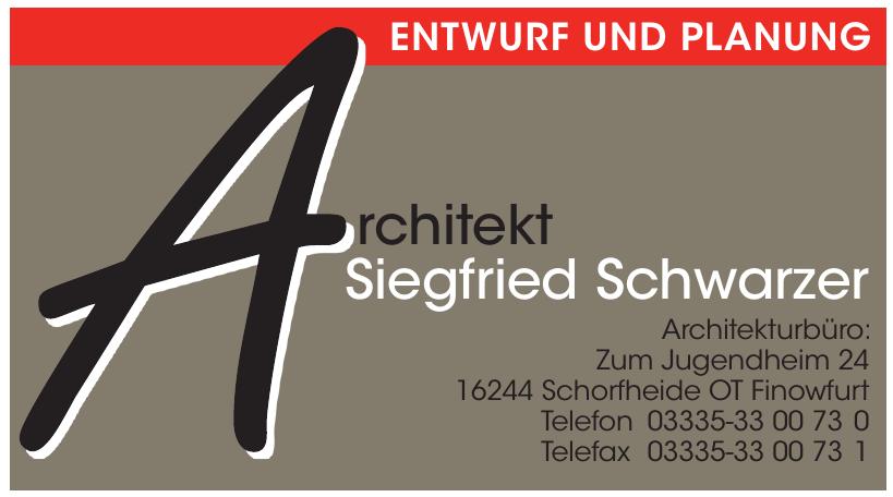 Architekt Siegfried Schwarzer