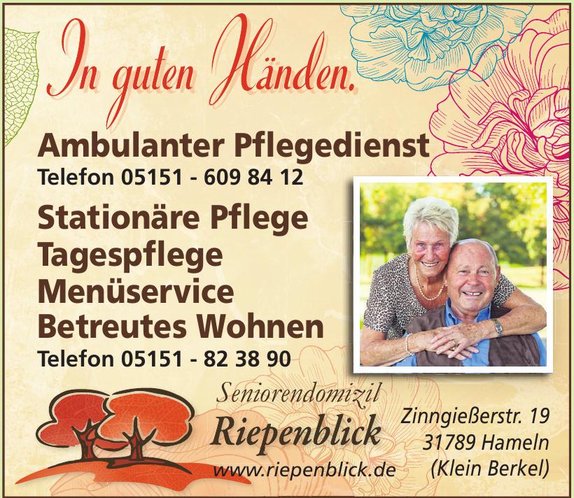 Seniorendomizil Riepenblick