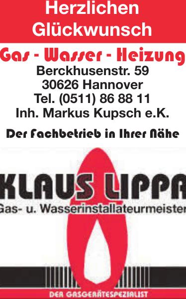 Lippa Klaus Gas, Wasser, Heizung