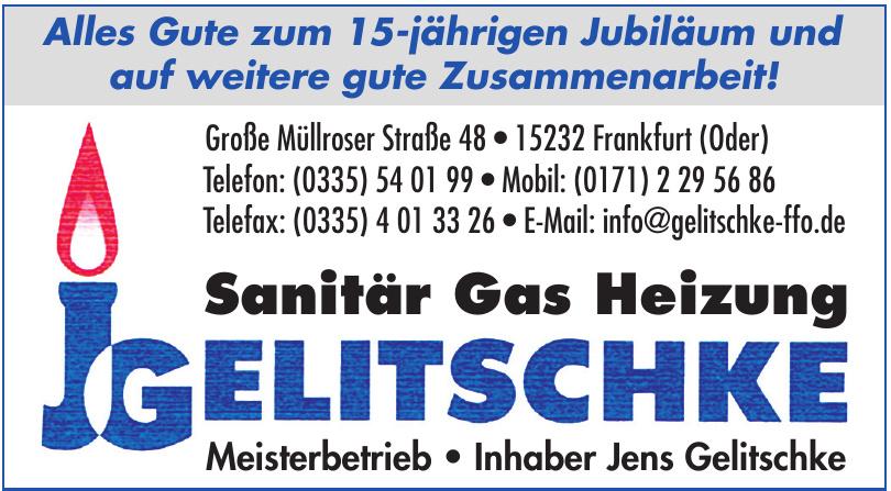 JG Gelitschke Sanitär, Gas, Heizung