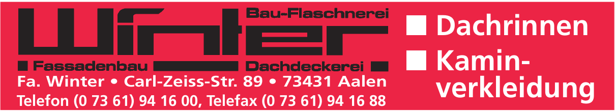 Winter Dachdeckerei & Bau-Flaschnerei