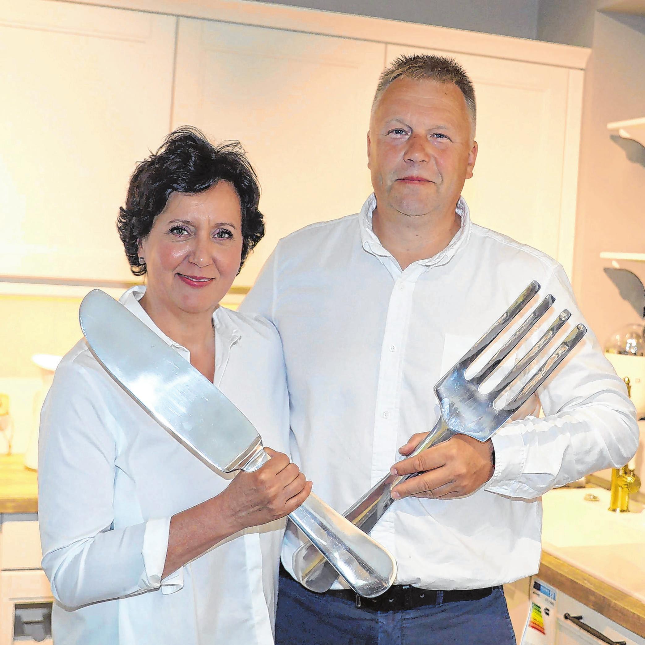 Daniela und Ingo Werner investierten in den Bau eines neuen Küchenstudios. Fotos: Archiv/Werner