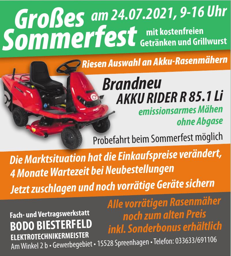 Bodo Biesterfeld Elektrotechnikermeister