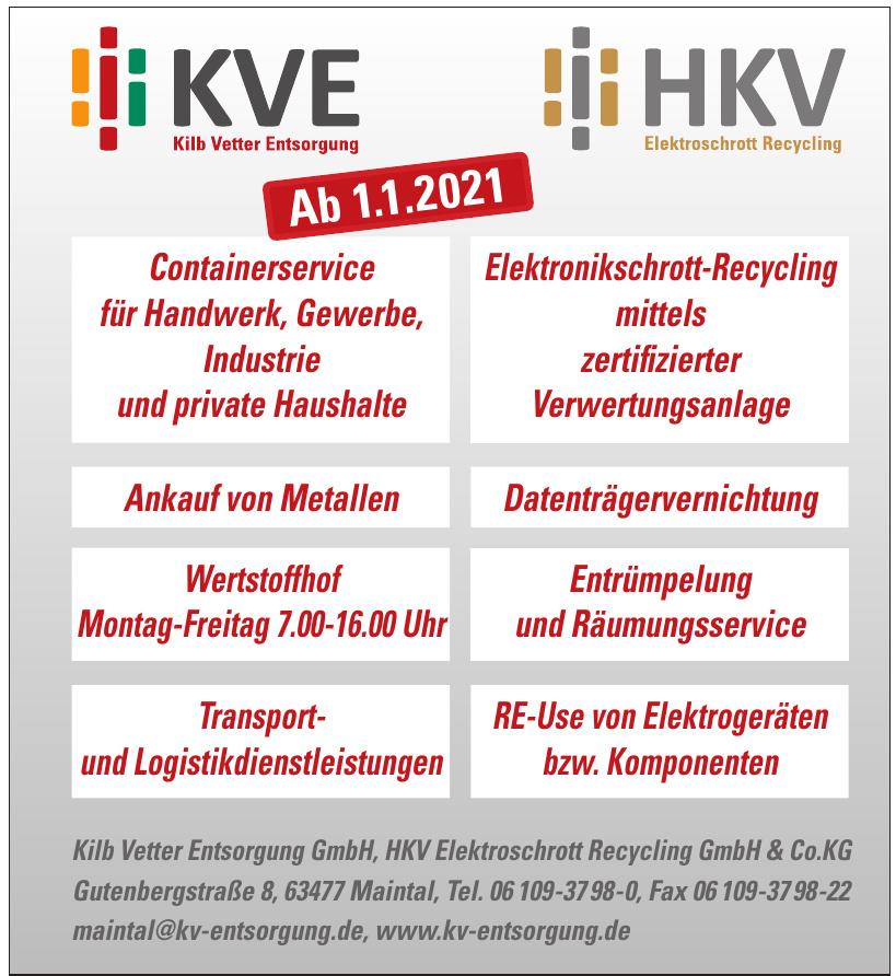 Kilb Vetter Entsorgung GmbH, HKV Elektroschrott Recycling GmbH & Co.KG