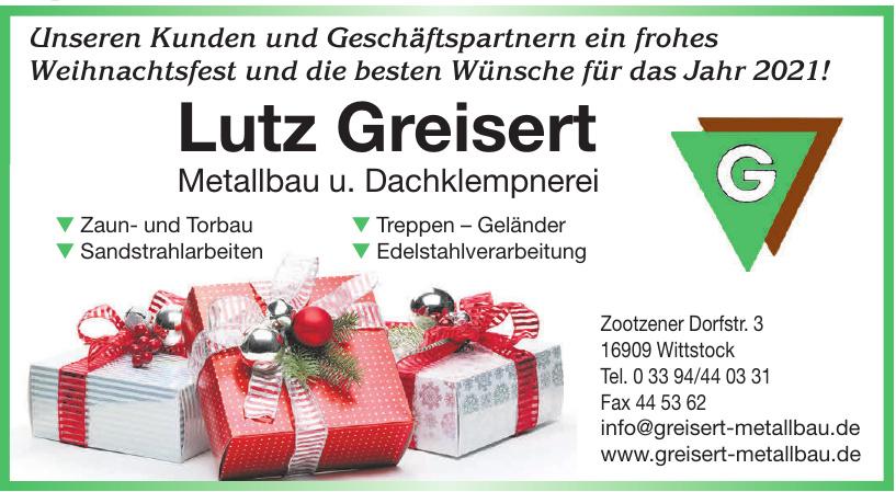 Lutz Greisert Metallbau u. Dachklempnerei